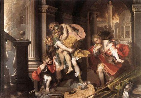 Aeneas' Flight from Troy Federico Barocci