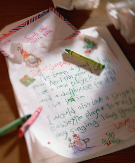 writing letter to Santa Claus