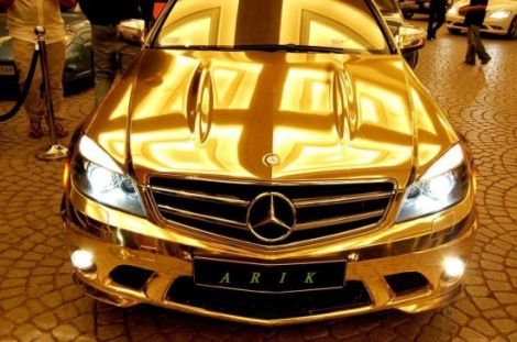 gold-mercedes-benz