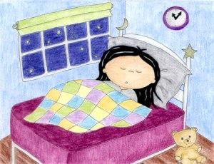 girl sleeping teedy bear