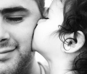 little-girl-kissing-daddy