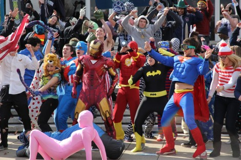 superheroes Harlem Shake Superman Batman Spiderman