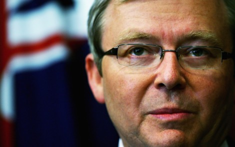 Labor Leader Kevin Rudd Explains Opposition Industrial Relations Stance