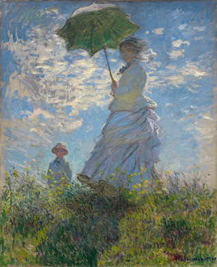 Woman with a Parasol Claude Monet