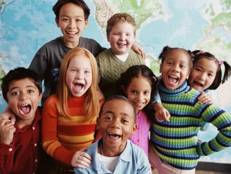 multiracial children school