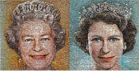 Queen Elizabeth mosaic