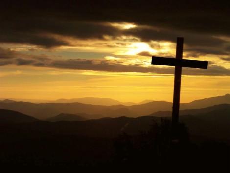 cross sunset sky