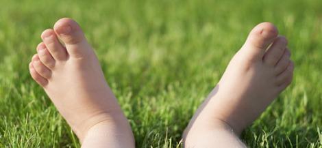 feet child grass nature