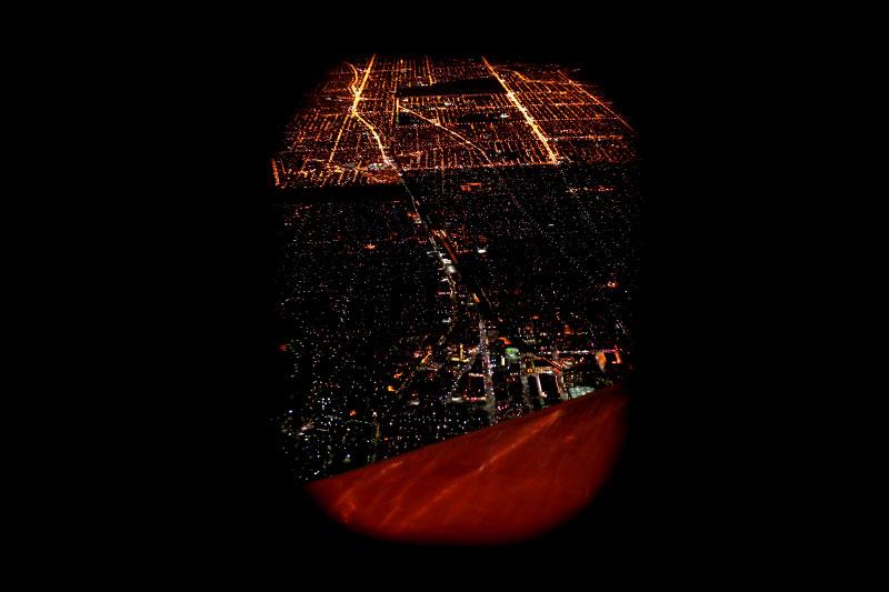Airplane Window City Night Wondering Fair