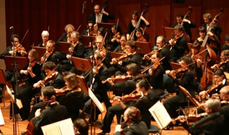 violin orchestra concert
