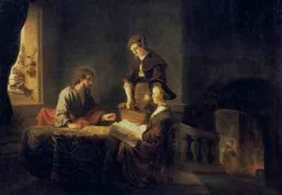 Rembrandt Jesus Mary Martha